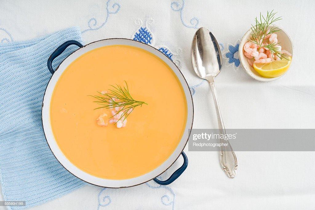 Shrimp soup : Stock Photo