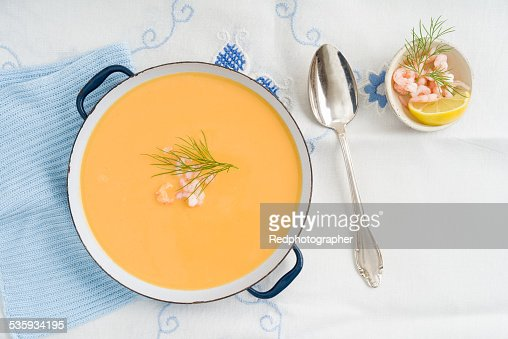 Shrimp soup : Stock Photo