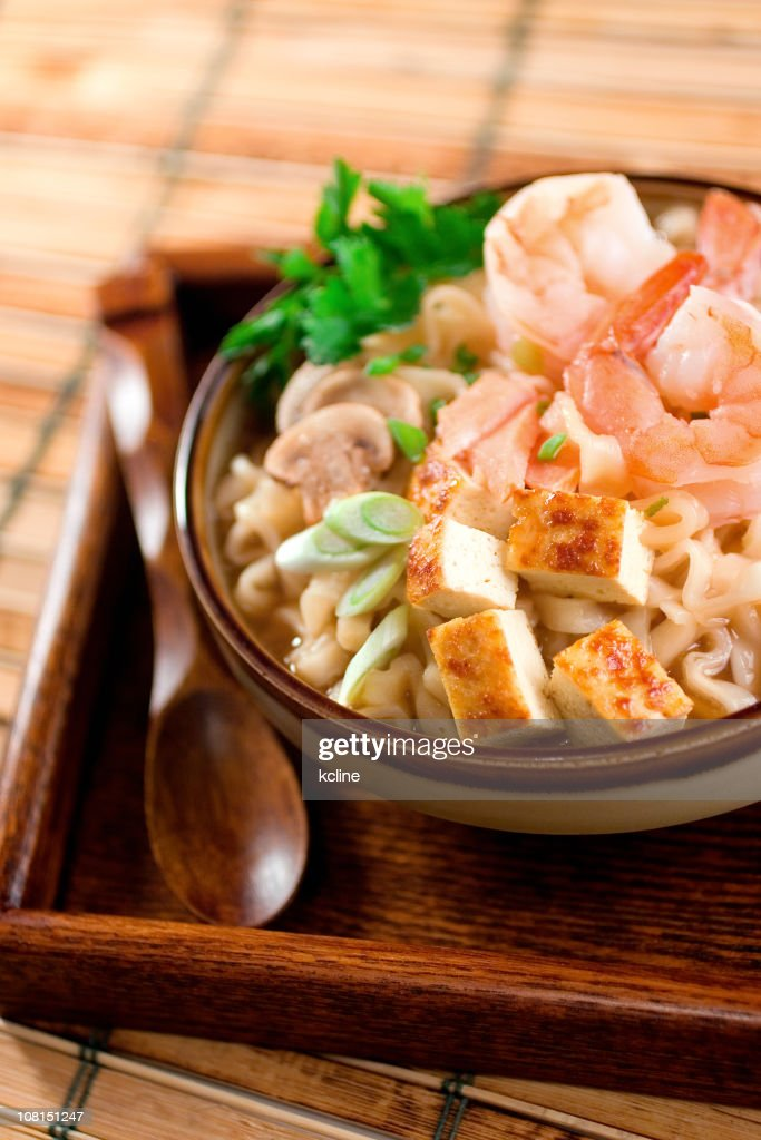 Shrimp Udon Noodles : Stock Photo