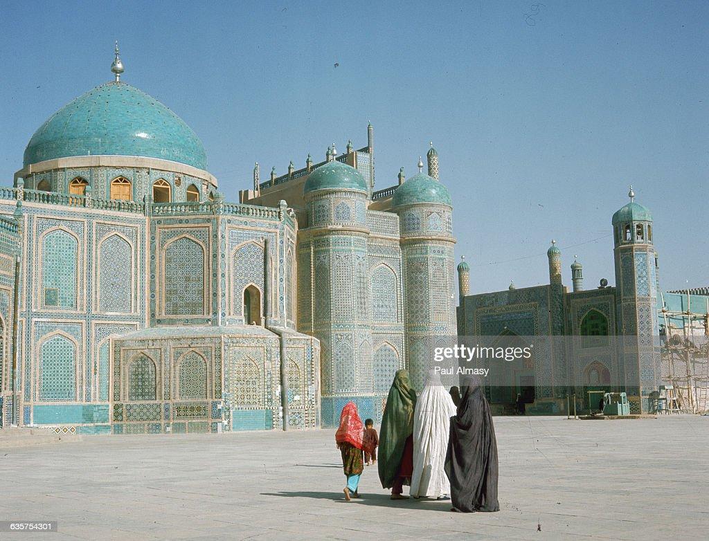 Shrine of Ali in MazariSharif With Group of Moslem Women