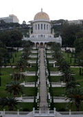 Shrine of the Bab which is the second holy place for Baha'i worshippers and its terraced gardens are seen on Mount Carmel Haifa on December 9 2013