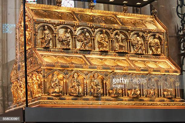 Shrine Of The Three Holy Kings The Largest Reliquary Of The Middle Ages On Display In Cologne Cathedral Cologne North RhineWestphalia Germany