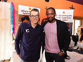 Shriners Hospitals for Children Patient Ambassador Marius Woodward and actor Dule Hill attend the EcoLuxe Lounge at Sundance16 on January 24 2016 in...