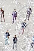 Shrink wrapped businessmen