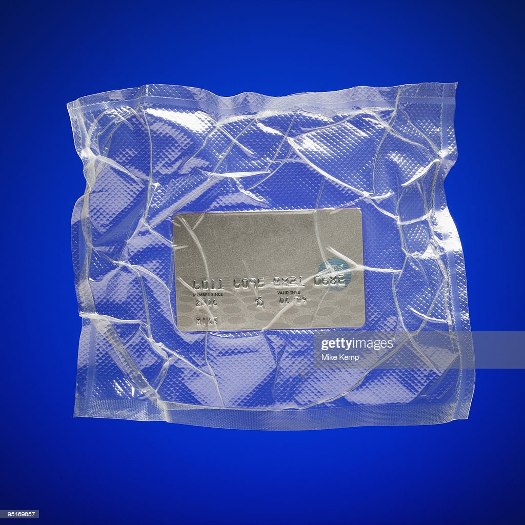 Shrink wrapped credit card