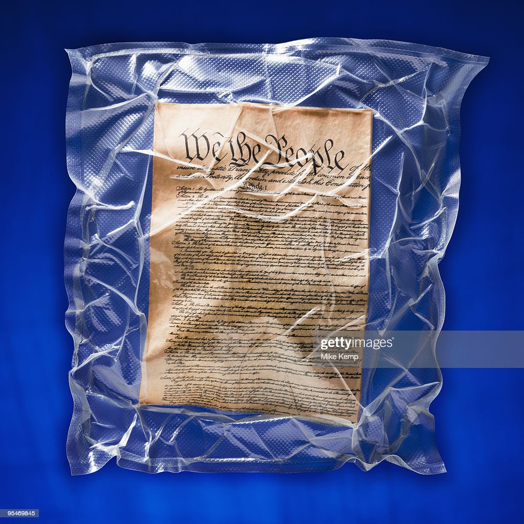 Shrink wrapped declaration of independence