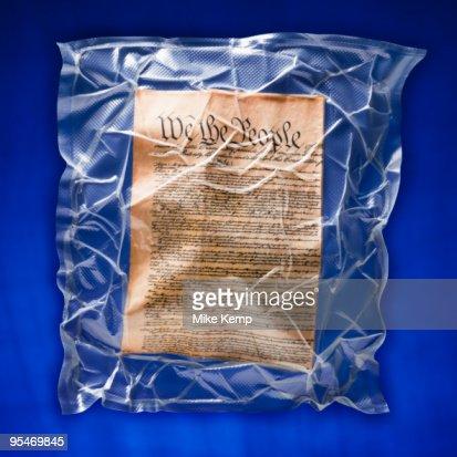 Shrink wrapped declaration of independence