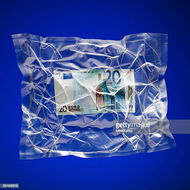 Shrink wrapped Euro
