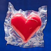 Shrink wrapped heart