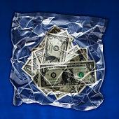 Shrink wrapped money