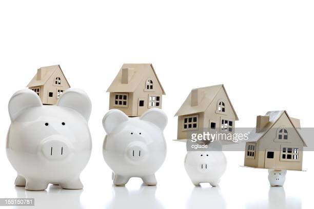 Shrinking Savings Real Estate Concept