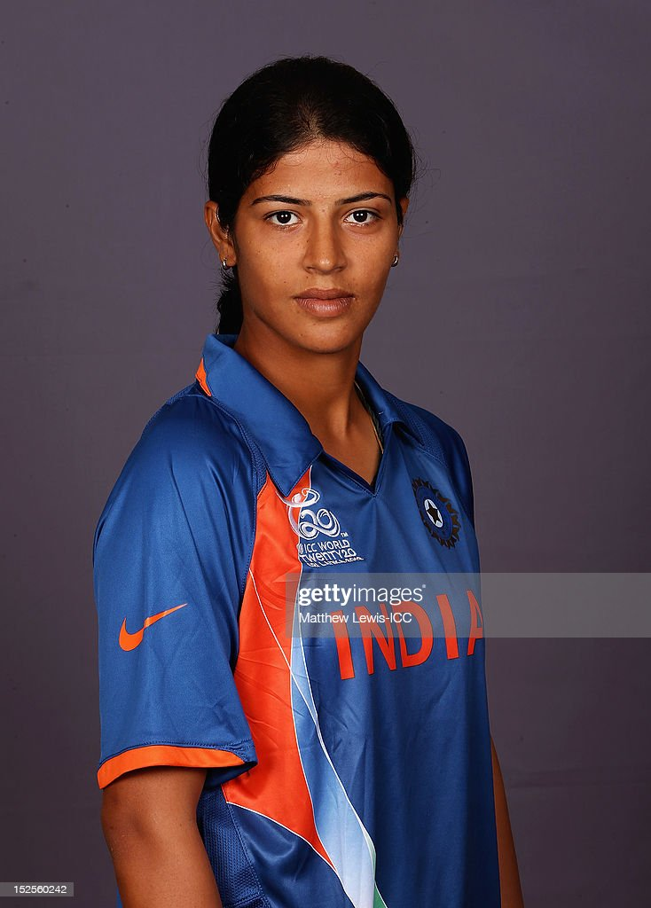 Shrubhalaxmi Sharma of India Womens Cricket Team poses for a portrait ahead of the Womens ICC World T20 at the Galadari Hotel on September 22, 2012 in Colombo, Sri Lanka.
