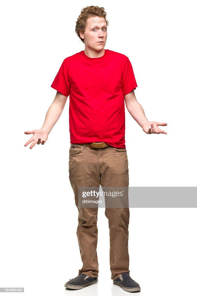 Shrugging Young Man