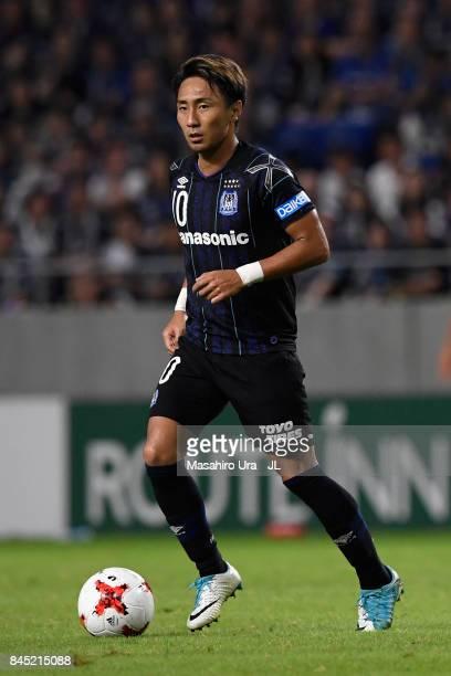 Shu Kurata of Gamba Osaka in action during the JLeague J1 match between Gamba Osaka and Vissel Kobe at Suita City Football Stadium on September 9...
