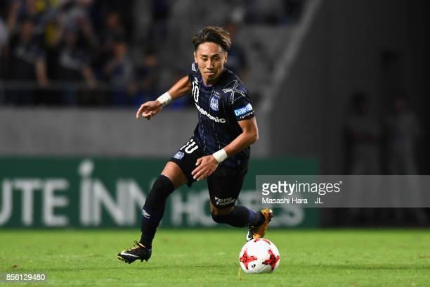 Shu Kurata of Gamba Osaka in action during the JLeague J1 match between Gamba Osaka and Yokohama FMarinos at Suita City Football Stadium on September...