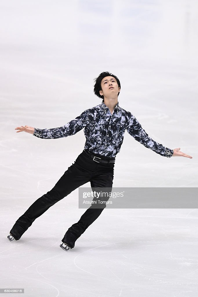 Shu Nakamura of Japan competes in the Men short program during the Japan Figure Skating Championships 2016 on December 23, 2016 in Kadoma, Japan.