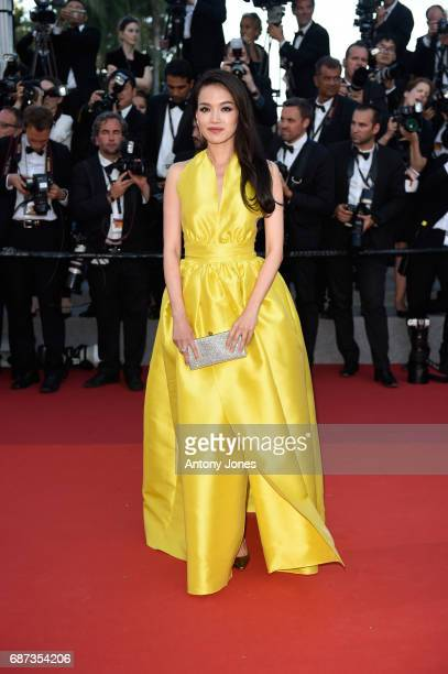 Shu Qi attends the 70th Anniversary of the 70th annual Cannes Film Festival at Palais des Festivals on May 23 2017 in Cannes France