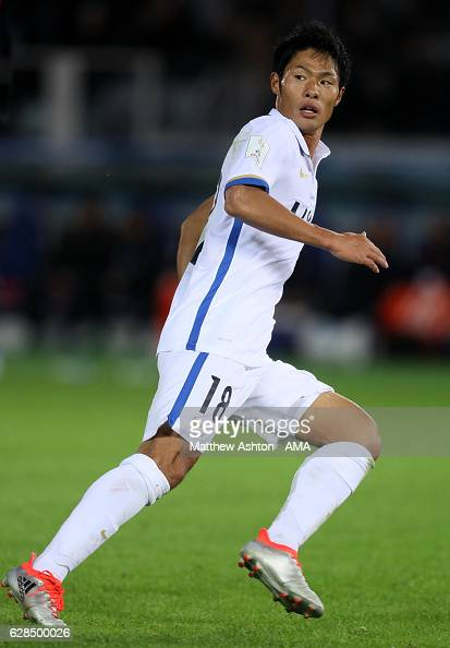 Shuhei Akasakiof Kashima Antlers in action during the FIFA Club World Cup Playoff for Quarter Final match between Kashima Antlers and Auckland City...