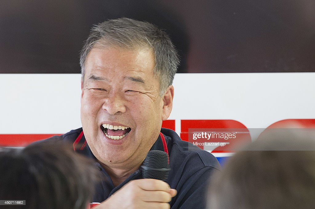 Shuhei Nakamoto of Japan and Honda Racing Competition HRC smiles during the Honda press conference for the 100th victory of Honda in MotoGP class during the MotoGp Tests In Montmelo at Circuit de Catalunya on June 16, 2014 in Montmelo, Spain.