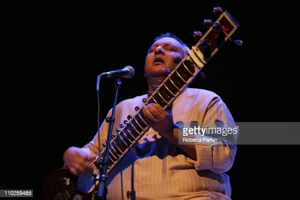 Shujaat Khan performs on stage at the Royal Festival Hall on March 16 2011 in London United Kingdom