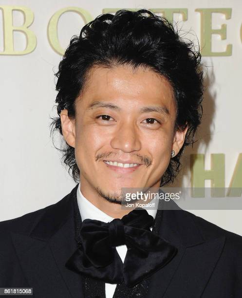 Shun Oguri arrives at the Hammer Museum Gala In The Garden at Hammer Museum on October 14 2017 in Westwood California