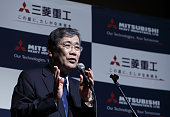 Shunichi Miyanaga president and chief executive officer of Mitsubishi Heavy Industries Ltd speaks during a news conference in Tokyo Japan on Monday...
