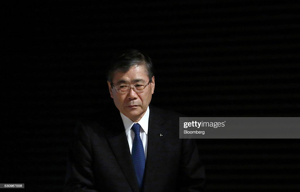 Shunichi Miyanaga president and chief executive officer of Mitsubishi Heavy Industries Ltd arrives for a news conference in Tokyo Japan on Monday May...