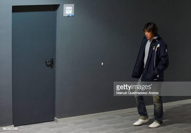 Shunsuke Nakamura of Espanyol walks to vip room after the La Liga match between Espanyol and Athletic de Bilbao at Nuevo Estadio de CornellaEl Prat...