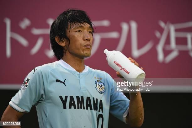 Shunsuke Nakamura of Jubilo Iwata in action during the JLeague J1 match between Jubilo Iwata and Omiya Ardija at Yamaha stadium on September 23 2017...