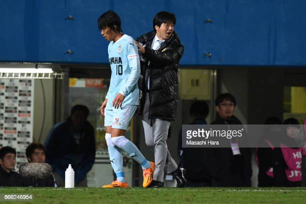 Shunsuke Nakamura of Jubilo Iwata is seen after replaced during the 97th Emperor's Cup quarter final match between Yokohama FMarinos and Jubilo Iwata...