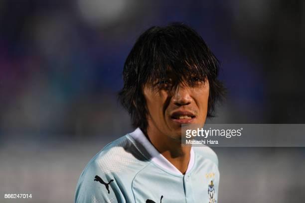Shunsuke Nakamura of Jubilo Iwata looks on prior to the 97th Emperor's Cup quarter final match between Yokohama FMarinos and Jubilo Iwata at Nippatsu...