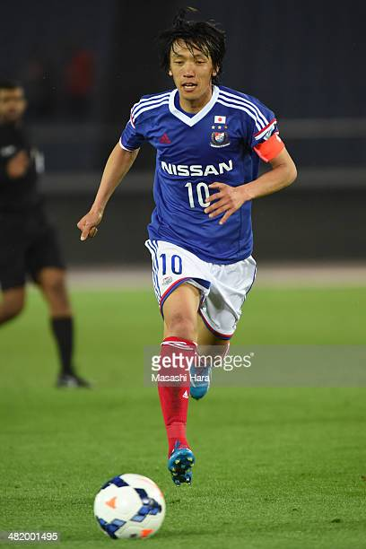 Shunsuke Nakamura of Yokohama FMarinos in action during the AFC Champions League Group G match between Yokohama FMarinos and Melbourne Victory at...