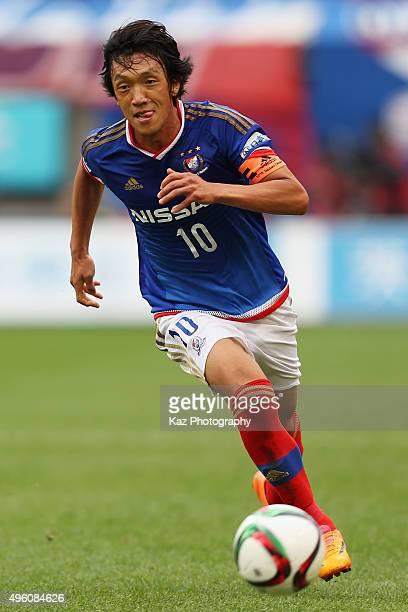 Shunsuke Nakamura of Yokohama FMarinos in action during the JLeague match between Kashima Antlers and Yokohama FMarinos at Kashima Soccer Stadium on...