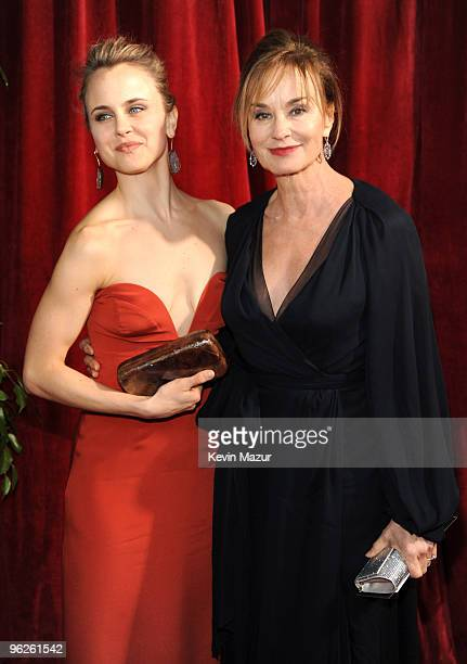 Shura Baryshnikov and Jessica Lange arrives to the TNT/TBS broadcast of the 16th Annual Screen Actors Guild Awards held at the Shrine Auditorium on...