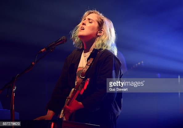 Shura performs on stage at KOKO on June 1 2016 in London England
