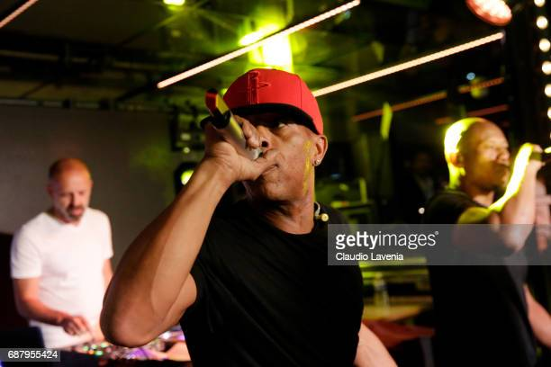 Shurik'n of IAM perform at Villa Schweppes Cannes during the 70th annual Cannes Film Festival at Villa Schweppes on May 24 2017 in Cannes France