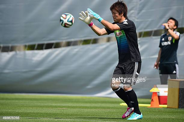 Shusaku Nishikawa of Japan in action during the training session on May 23 2014 in Ibusuki Kagoshima Japan