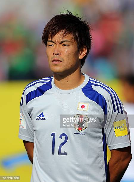 Shusaku Nishikawa of Japan looks on ahead of the 2018 FIFA World Cup Russia qualifier against Afghanistan at Azadi Stadium on September 8 2015 in...