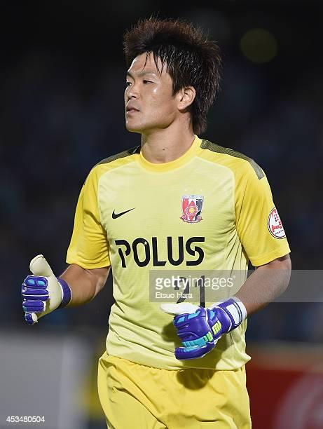 Shusaku Nishikawa of Urawa Red Diamonds in action during the J League match between Kawasaki Frontale and Urawa Red Diamonds at Todoroki Stadium on...