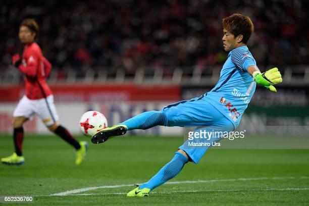 Shusaku Nishikawa of Urawa Red Diamonds in action during the JLeague J1 match between Urawa Red Diamonds and Ventforet Kofu at Saitama Stadium on...