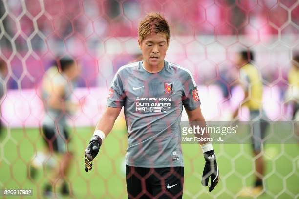 Shusaku Nishikawa of Urawa Red Diamonds is seen prior to the JLeague J1 match between Cerezo Osaka and Urawa Red Diamonds at Yanmar Stadium Nagai on...