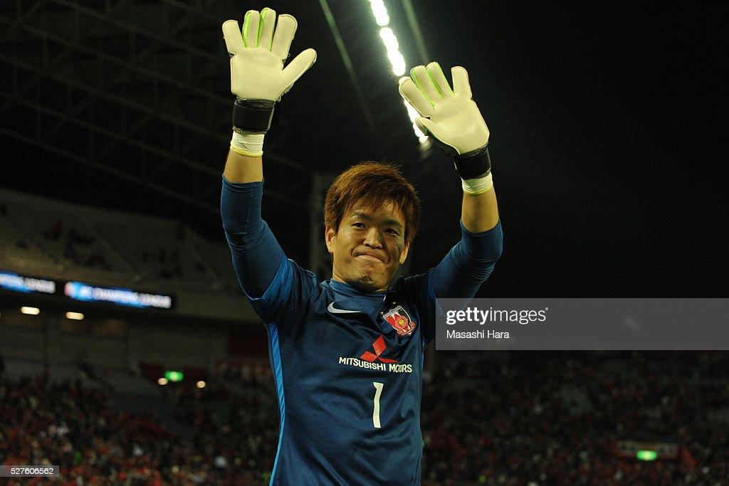 Shusaku Nishikawa #1 of Urawa Red Diamonds looks on after the AFC Champions League Group H match between Urawa Red Diamonds and Pohang Steelers at the Saitama Stadium on May 3, 2016 in Saitama, Japan.