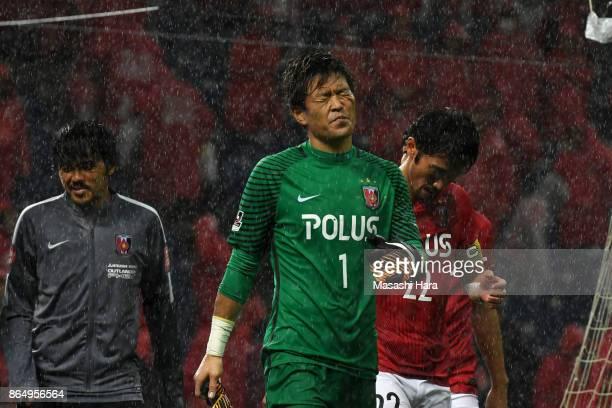 Shusaku Nishikawa of Urawa Red Diamonds looks on after the JLeague J1 match between Urawa Red Diamonds and Gamba Osaka at Saitama Stadium on October...