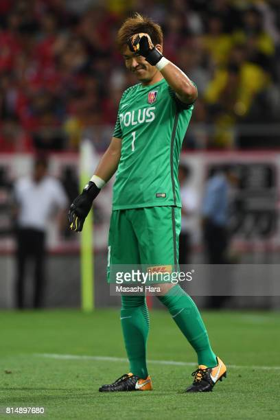 Shusaku Nishikawa of Urawa Red Diamonds looks on during the preseason friendly match between Urawa Red Diamonds and Borussia Dortmund at Saitama...