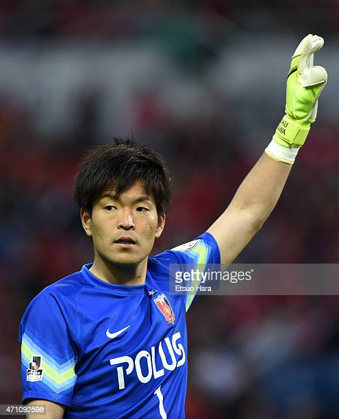 Shusaku Nishikawa of Urawa Reds gestures during the JLeague match between Urawa Red Diamonds and Nagoya Grampus at Saitama Stadium on April 25 2015...