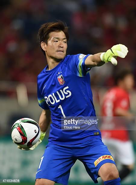Shusaku Nishikawa of Urawa Reds in action during the JLeague match between Urawa Red Diamonds and Kashima Antleres at Saitama Stadium on May 23 2015...