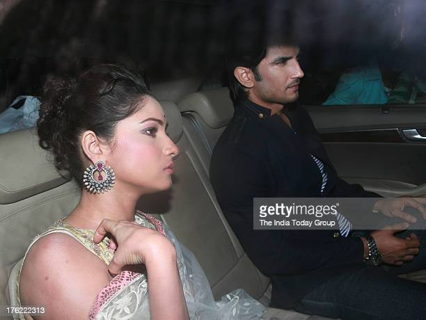 Shushant Rajput and Ankita Lokhande arrive for Shahrukh Khan's EidulFitr bash thrown on Saturday in Mumbai