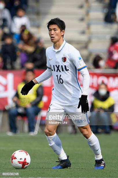 Shuto Yamamoto of Kashima Antlers in action during the JLeague J1 match between Shimizu SPulse and Kashima Antlers at IAI Stadium Nihondaira on March...