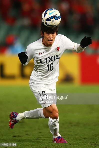 Shuto Yamamoto of Kashima in action during the Asian Champions League match between the Western Sydney Wanderers and Kashima Antlers at Pirtek...