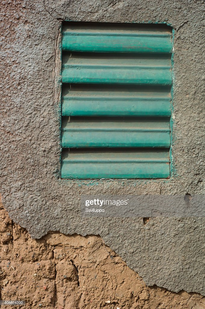 Shutter in village : Stock Photo